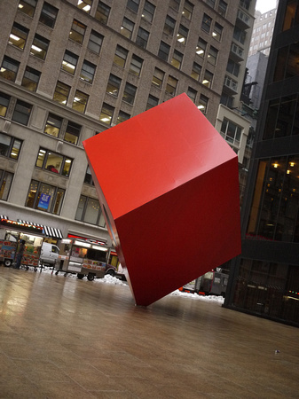 Street View of Noguchi's Red Cube